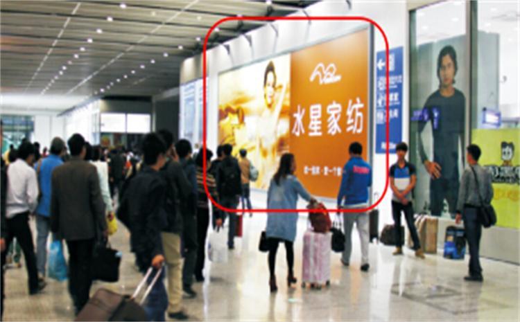 上海市上海虹桥站出站通道看板广告