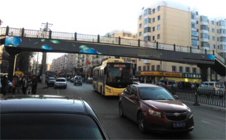 哈尔滨安国街跨街桥大牌广告